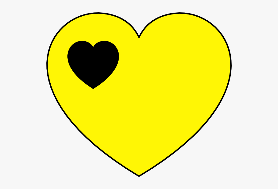Transparent Black Heart Clipart Png - Yellow Heart And Black Heart, Transparent Clipart