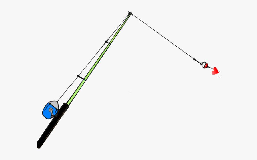 Worms Clipart Fishing Equipment - Clip Art Free Cartoon Fishing Rod, Transparent Clipart