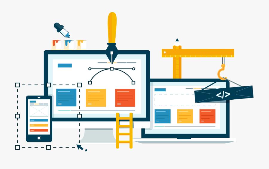 Web Development - Creative Web Design Banner, Transparent Clipart
