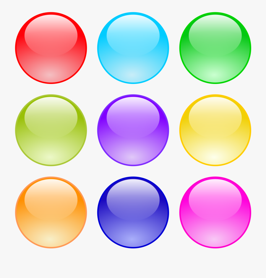 Glossy Circle Buttons - Glossy Circle Button Png, Transparent Clipart