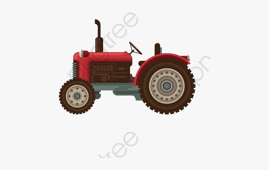 Cartoon Tractor - Cute Tractor Illustration, Transparent Clipart