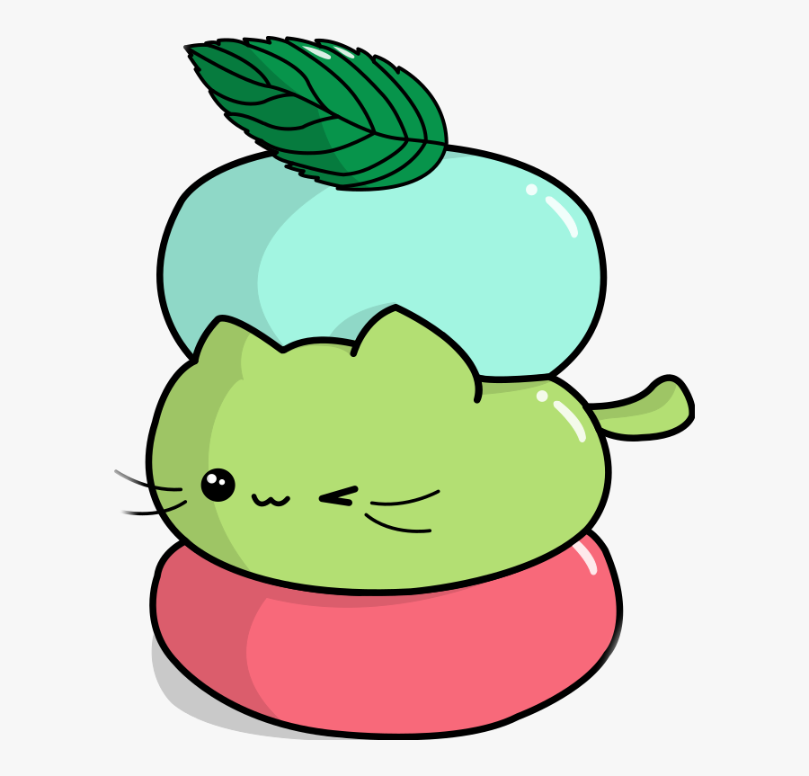 Mochi Cat Neko Kitty Chibi Weeb Cake Japan Clipart - Chibi Mochi Cats, Transparent Clipart