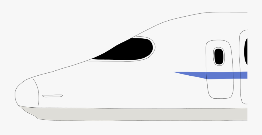 Art Of Shinkansen Being - Japan Graphic Bullet Train, Transparent Clipart