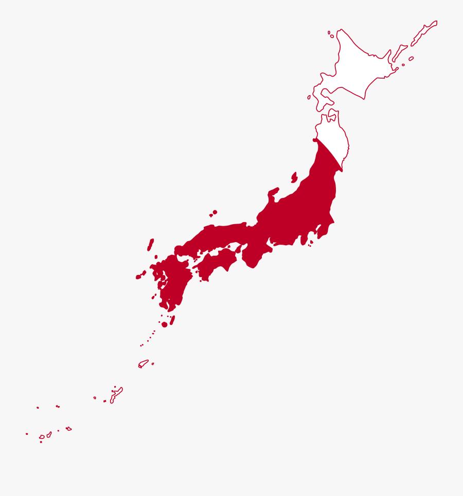 Flag Map Japan Suparedonkulous Flagartist - Japan Map, Transparent Clipart