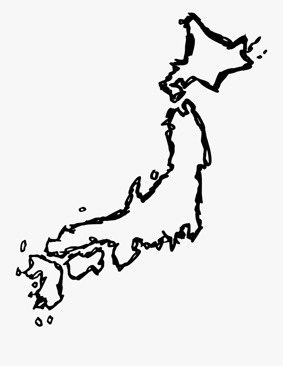 Map Of Japan Drawing, Transparent Clipart