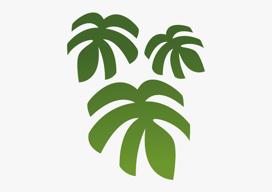 Leaf,green,plant,palm Art,graphics - Rainforest Tree Decal, Transparent Clipart