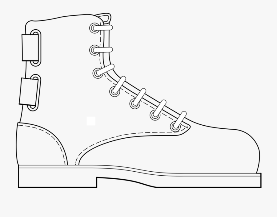 Line Art,angle,area - Draw A Cartoon Boot, Transparent Clipart
