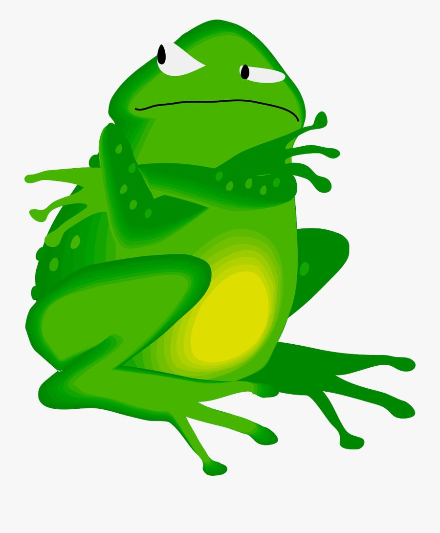 Grumpy Frog Clipart, Transparent Clipart