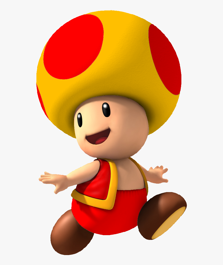 Toad Clipart Super Mario Yellow And Red Toad Mario Free
