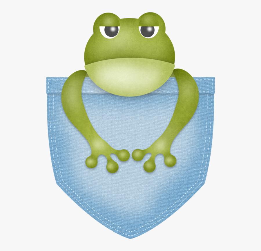 Transparent Bullfrog Clipart - Frog In A Pocket Clipart, Transparent Clipart