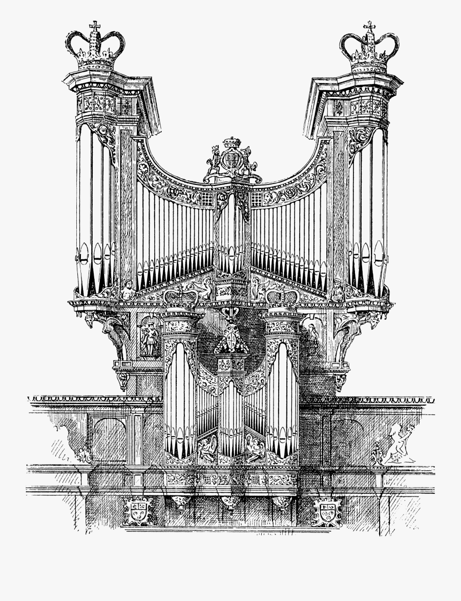Man Playing Pipe Organ Clipart & Clip Art Images - Artistic Pipe Organ Drawing, Transparent Clipart