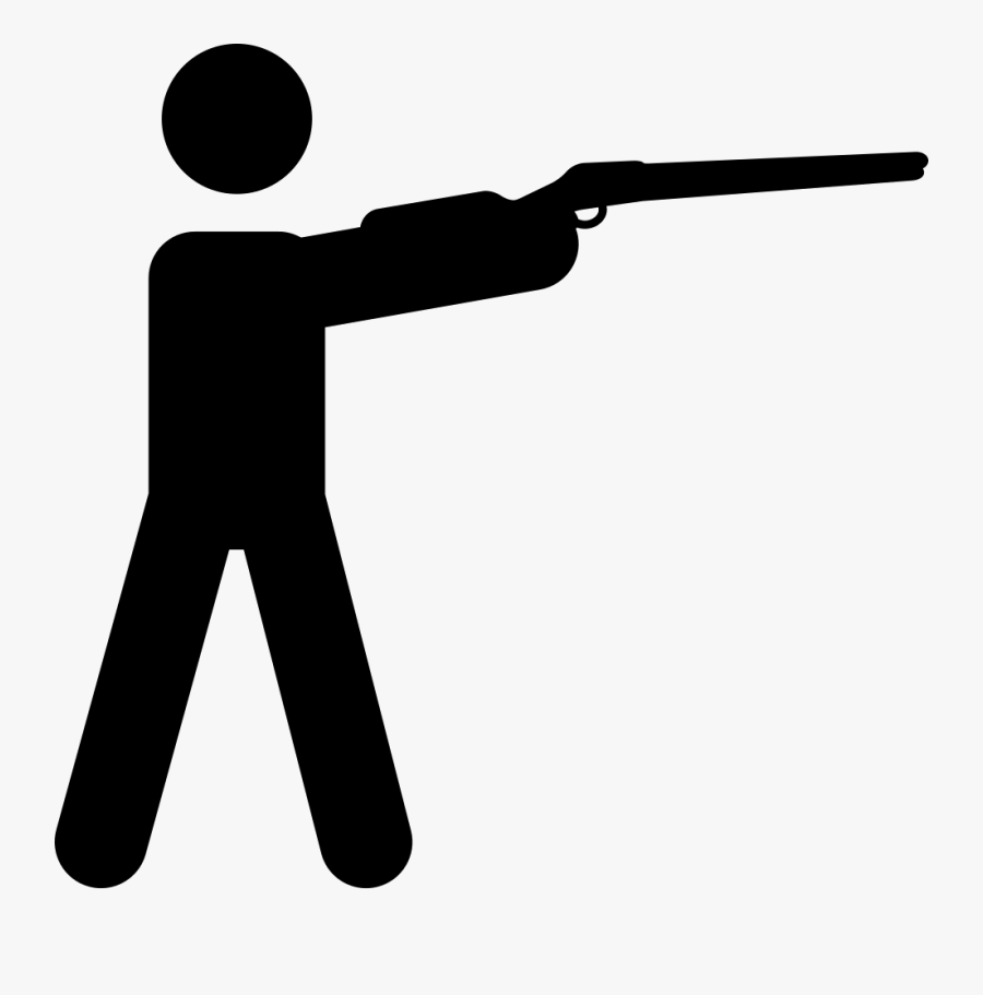 Royalty Free Library Shooting Clipart Hunter Gun - Hunting Icon Png, Transparent Clipart