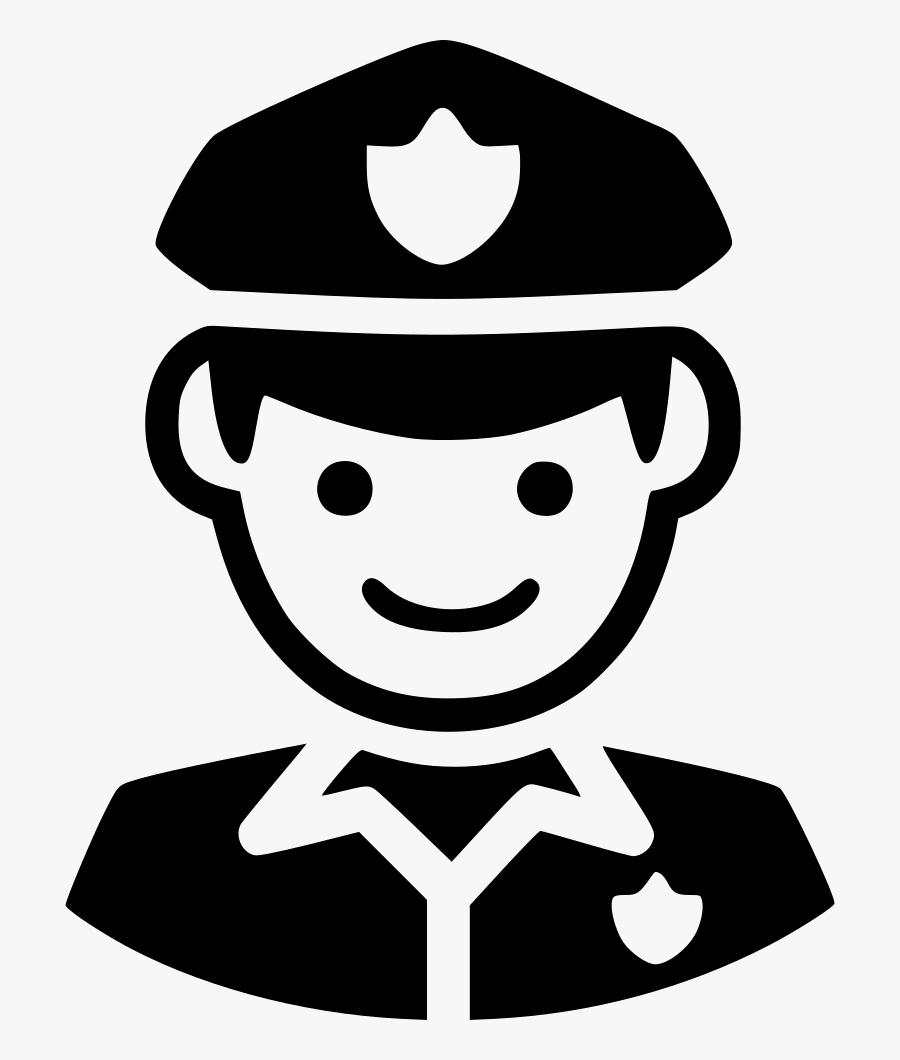 Transparent Cop Png - Security Guard Clipart Black And White, Transparent Clipart