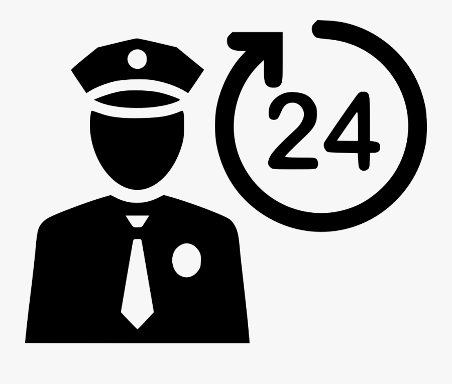 Protect Offer Pole Svg - Security Guard Icon Png, Transparent Clipart