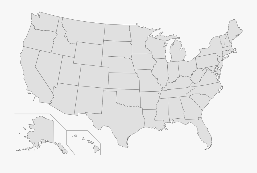 Amazoncom Blank United States - United States Clean Map, Transparent Clipart