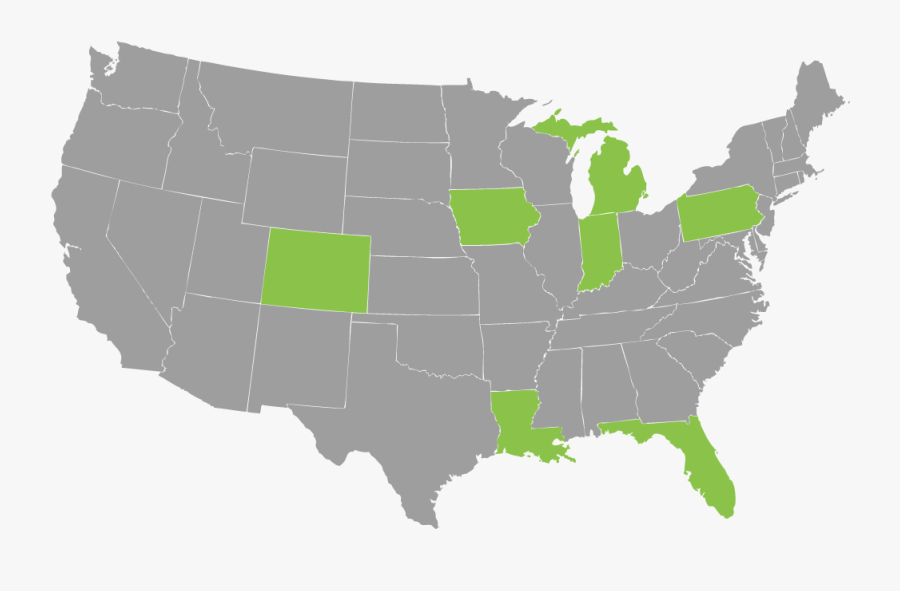 Sri Incorporated Client Map - Us Governor Map 2008, Transparent Clipart
