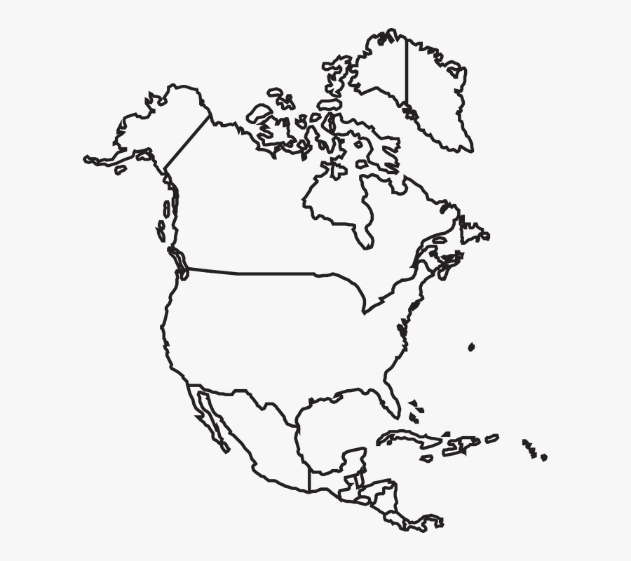 Map North America Canada Usa Mexico United Outline