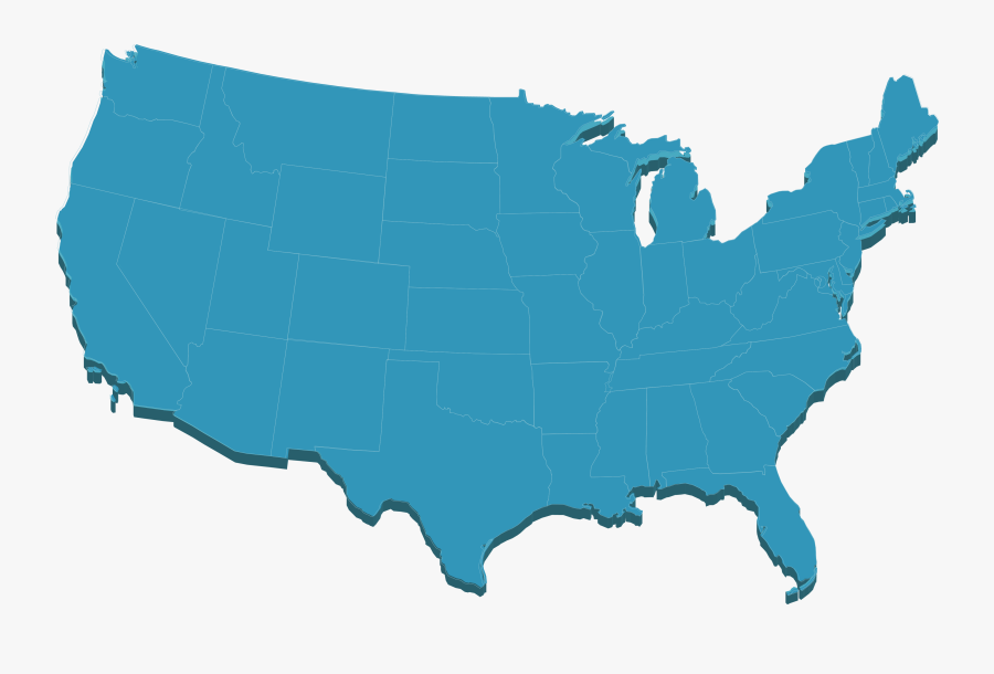 Usa Map Png - United States Transparent Png, Transparent Clipart