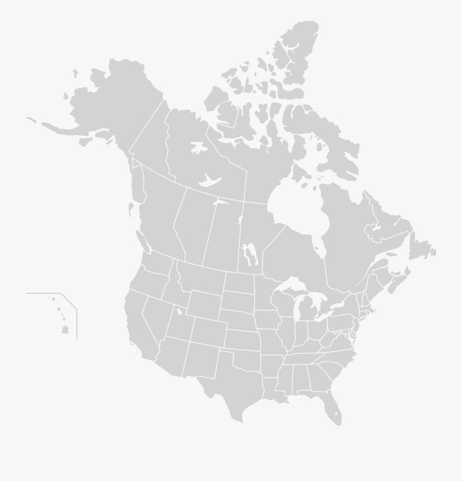 Clip Art Canada Map Vector - Map Of North America Png, Transparent Clipart