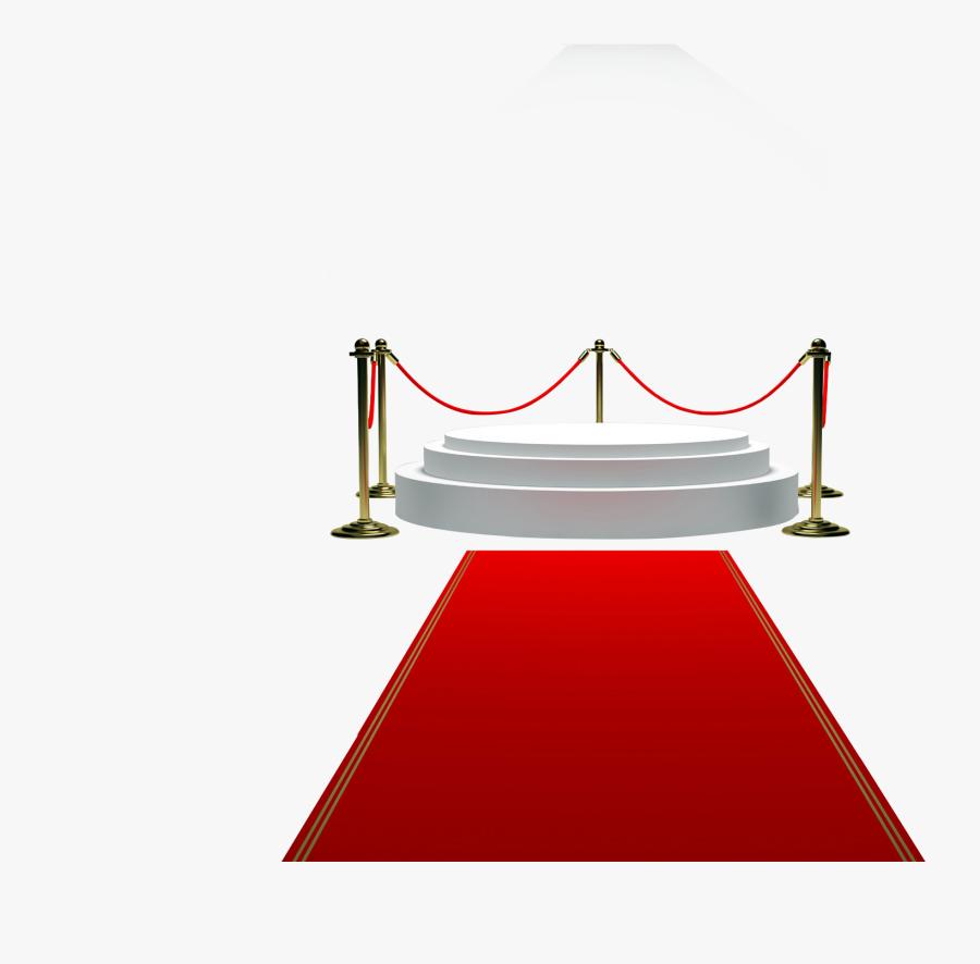 Podium Clipart Red Carpet - Alfombra Roja Png, Transparent Clipart