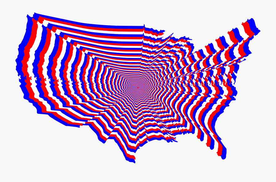 Leaf,symmetry,area - Red White And Blue Usa, Transparent Clipart