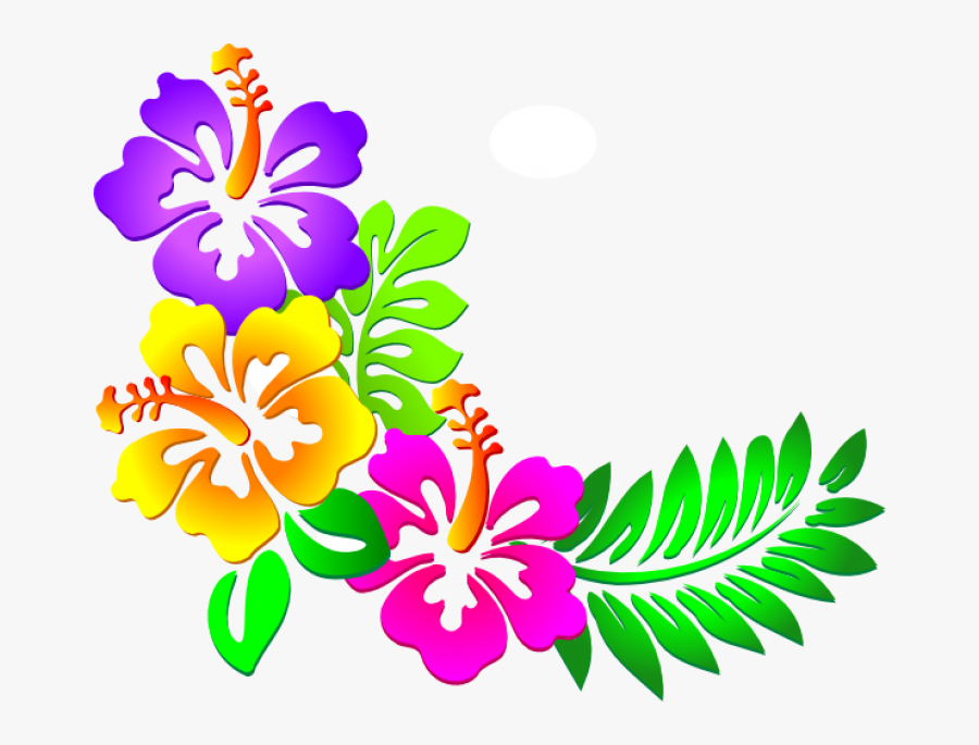 Hawaiian Flowers Clipart , Png Download - Hawaiian Clip Art, Transparent Clipart