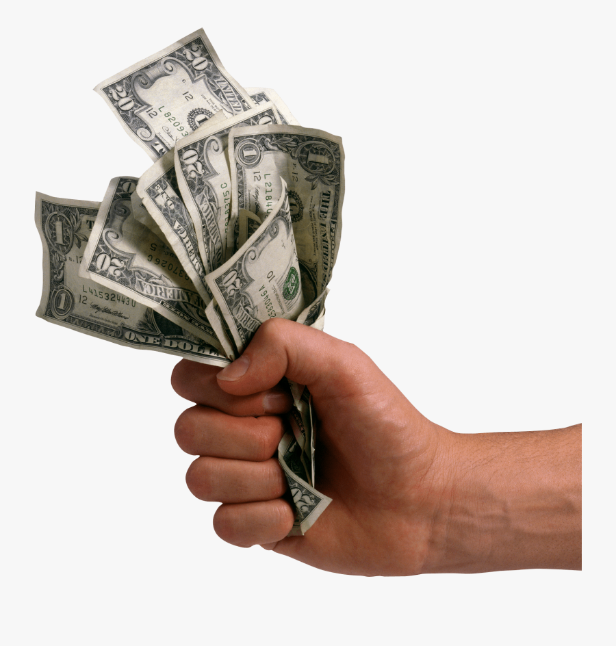 Hand Holding Dollars Money Transparent Png - Hand With Money Png, Transparent Clipart