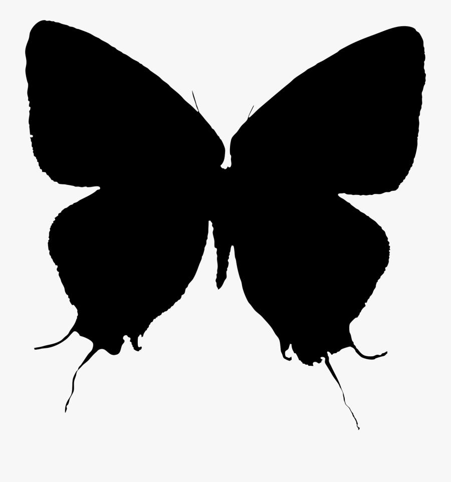 Brush-footed Butterflies Moth Clip Art Silhouette M - Swallowtail Butterfly, Transparent Clipart