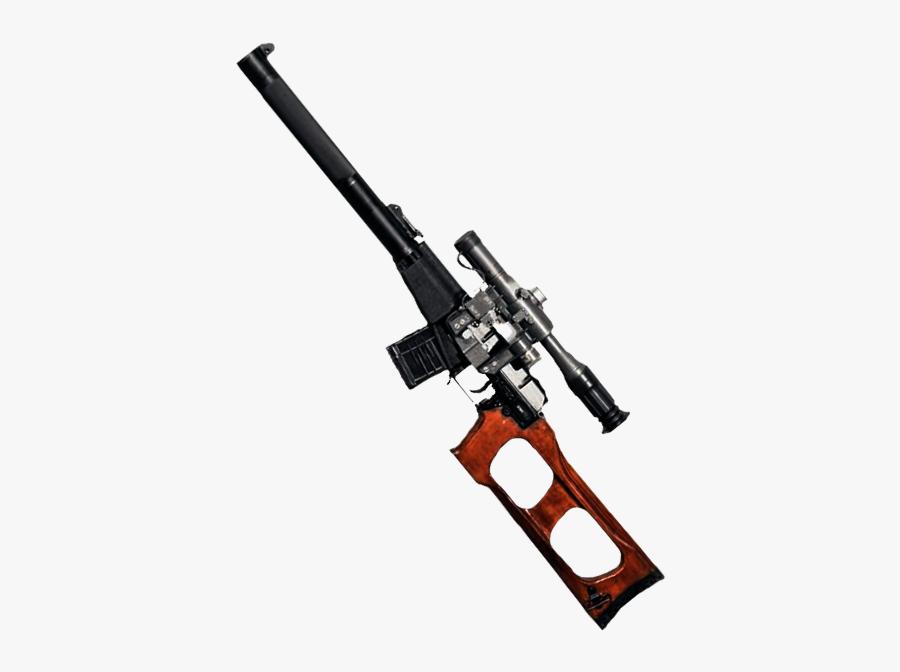 Vintorez, Vss, Russian Assault Rifle Png - Picsart Pubg Gun Png, Transparent Clipart
