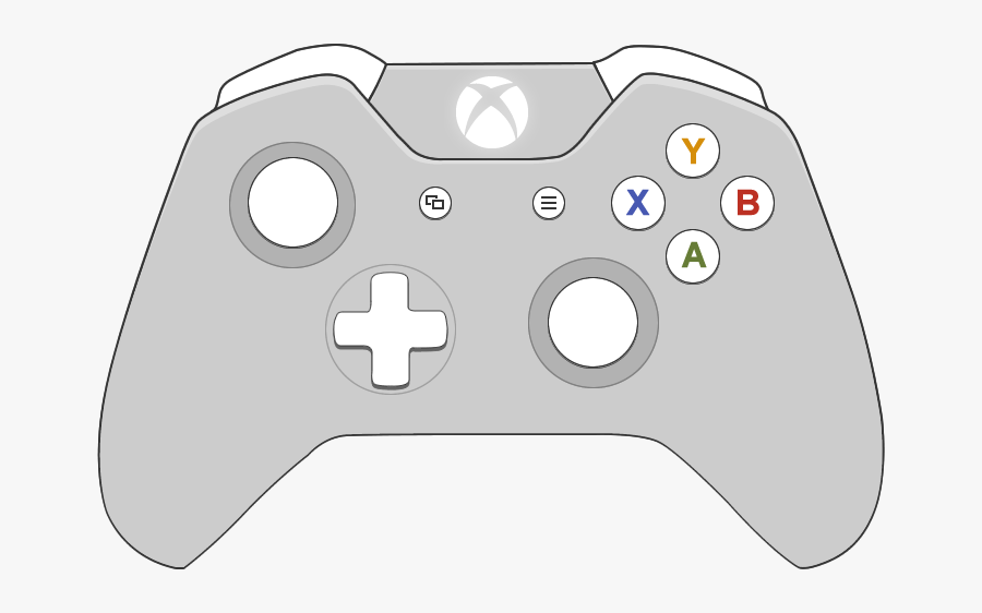 Transparent Xbox One Controller Png - Xbox One Controller 2d, Transparent Clipart