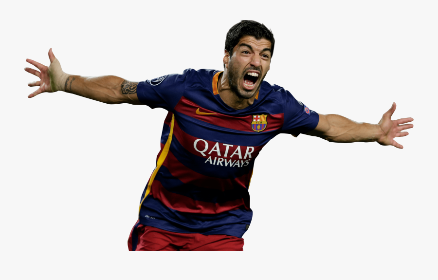 Transparent Soccer Player Running Clipart - Suarez Club Barcelona Png, Transparent Clipart