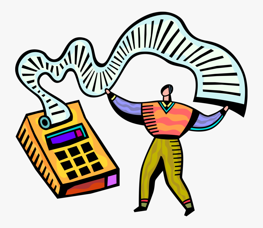Vector Illustration Of Accountant Bookkeeper Operates - Accounting Clipart Transparent Background, Transparent Clipart
