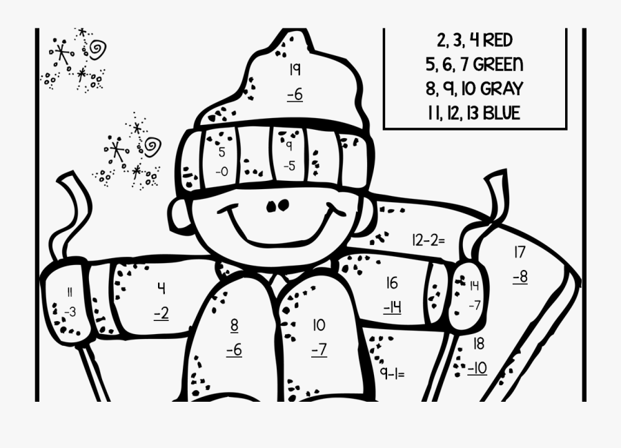 2nd Grade Coloring Pages Math Fall Fraction Christmas - Subtraction Coloring Pages 2 Grade, Transparent Clipart
