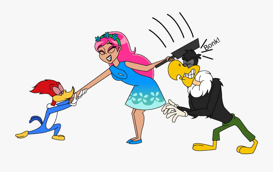 Clip Art Royalty Free Kisses Kristina As Human Poppy - New Woody Woodpecker Show Buzz, Transparent Clipart