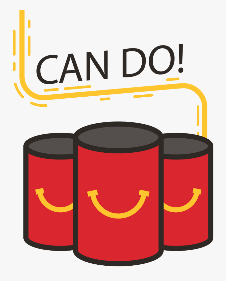 Canned Food Drive - Symbols For Ronald Mcdonald House, Transparent Clipart