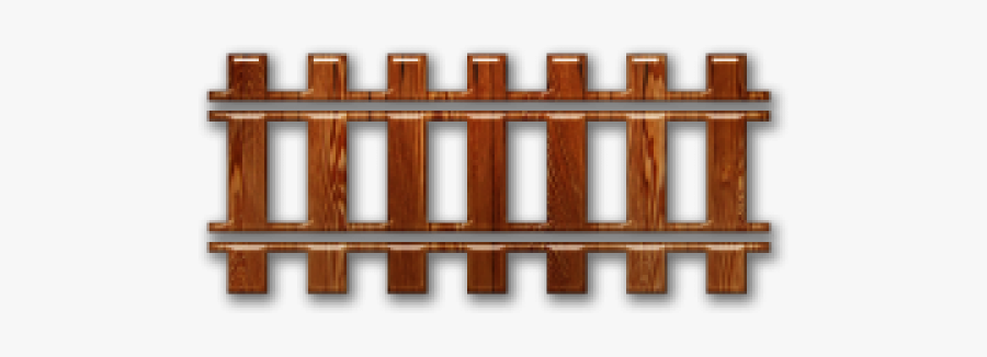 Train Track Clipart - Picket Fence, Transparent Clipart
