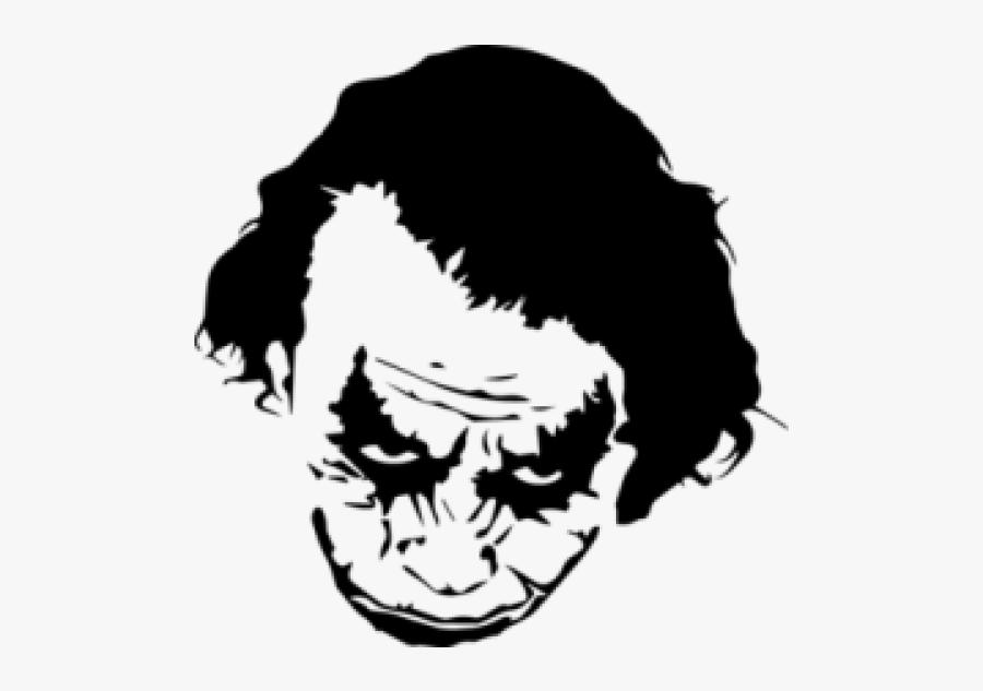 Joker Harley Quinn Stencil Art - Heath Ledger Joker Sticker, Transparent Clipart