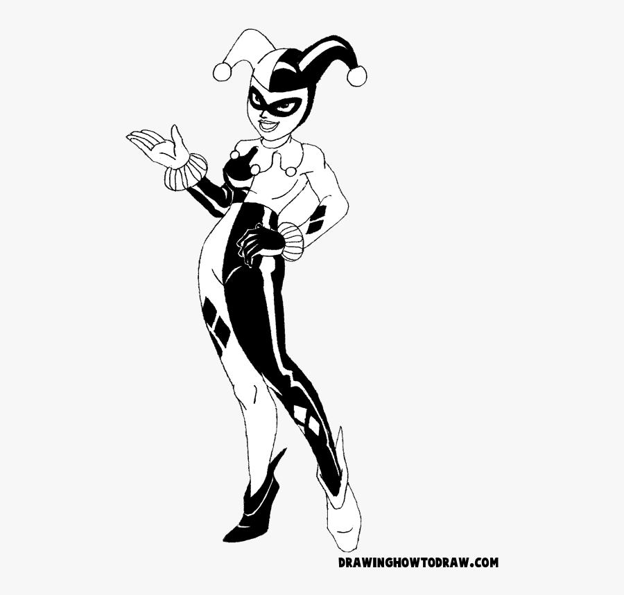 Harley Quinn Full Body Drawing, Transparent Clipart