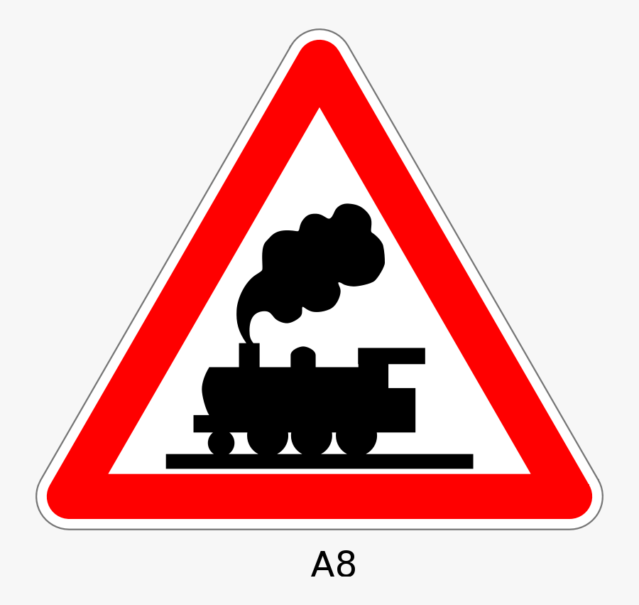 Slope,triangle,angle - Clipart Railroad Crossing Signs, Transparent Clipart