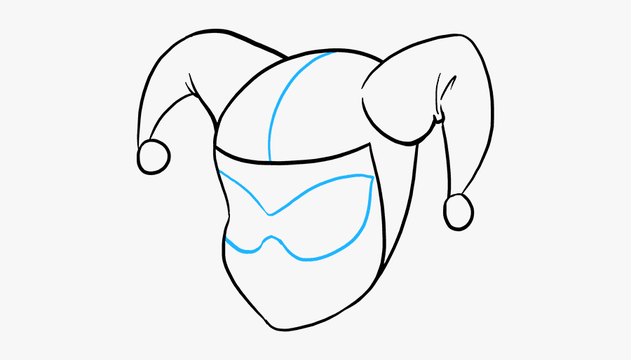 How To Draw Harley Quinn - Villains Easy Drawing, Transparent Clipart