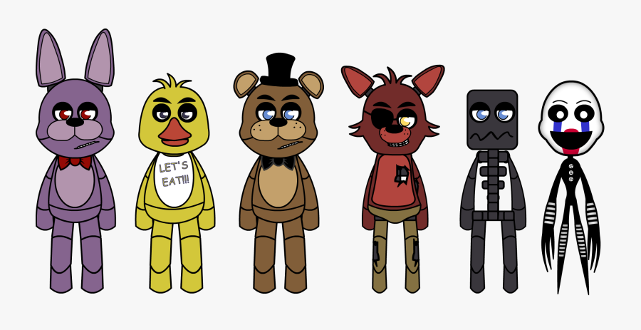 Cartoon Ish Style Fnaf - Fnaf Main Characters Cartoon, Transparent Clipart