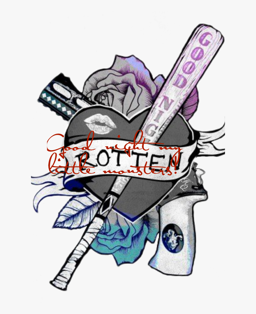 Transparent Suicide Squad Joker Png - Harley Quinn And Joker Tattoo, Transparent Clipart