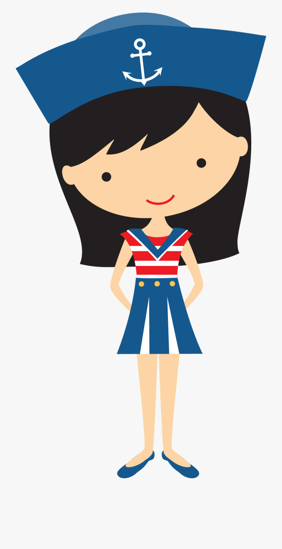 Sailor Girl Clipart, Transparent Clipart