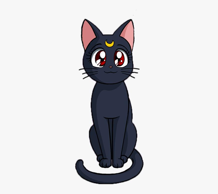 Wiccan Cat Clipart - Sailor Moon Cat Png, Transparent Clipart
