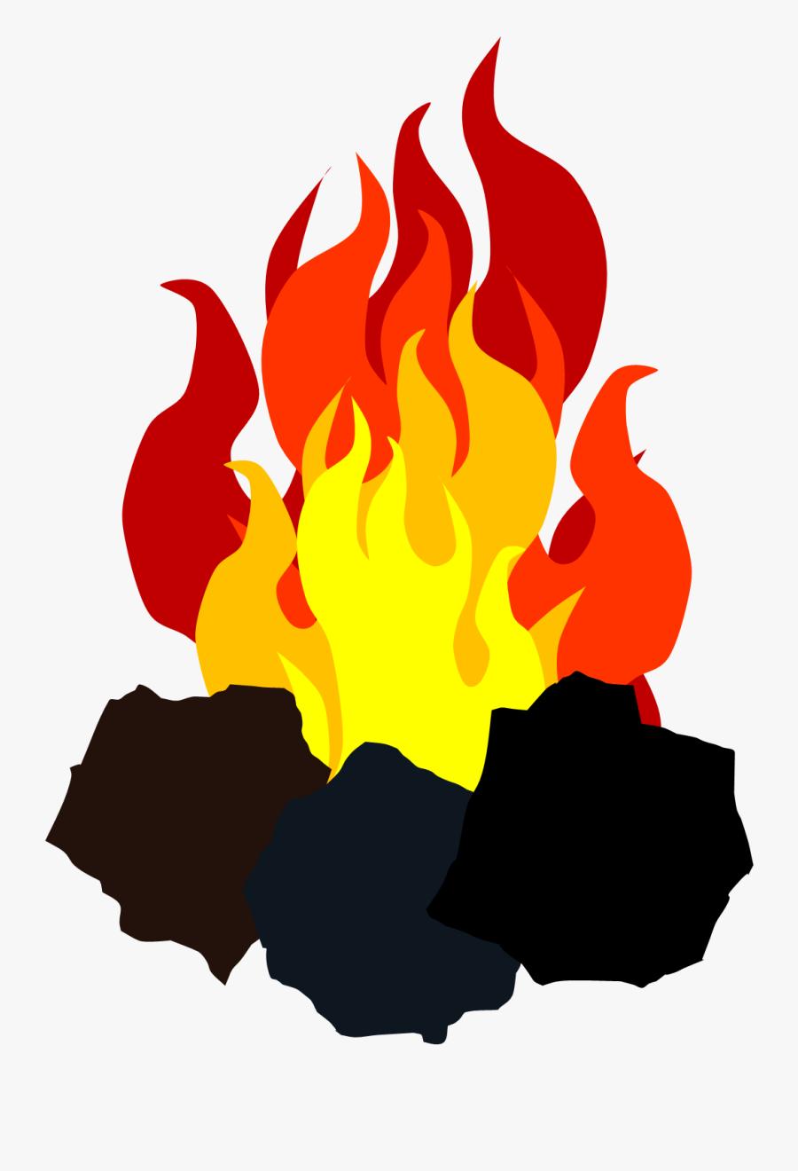 Clip Art Fire Illustrations - Coal And Fire Png, Transparent Clipart