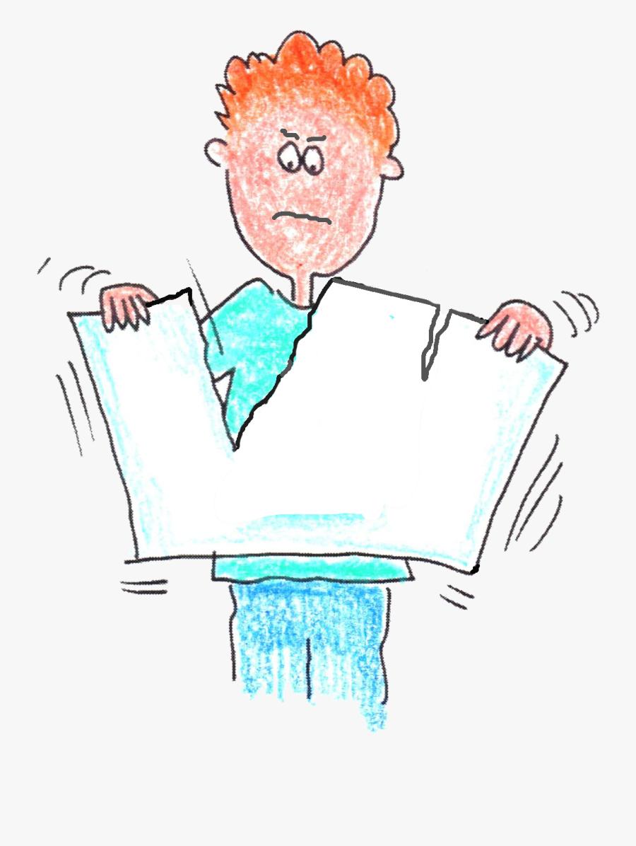 Tear Up Your Scrap Paper - Do Not Tear The Paper, Transparent Clipart