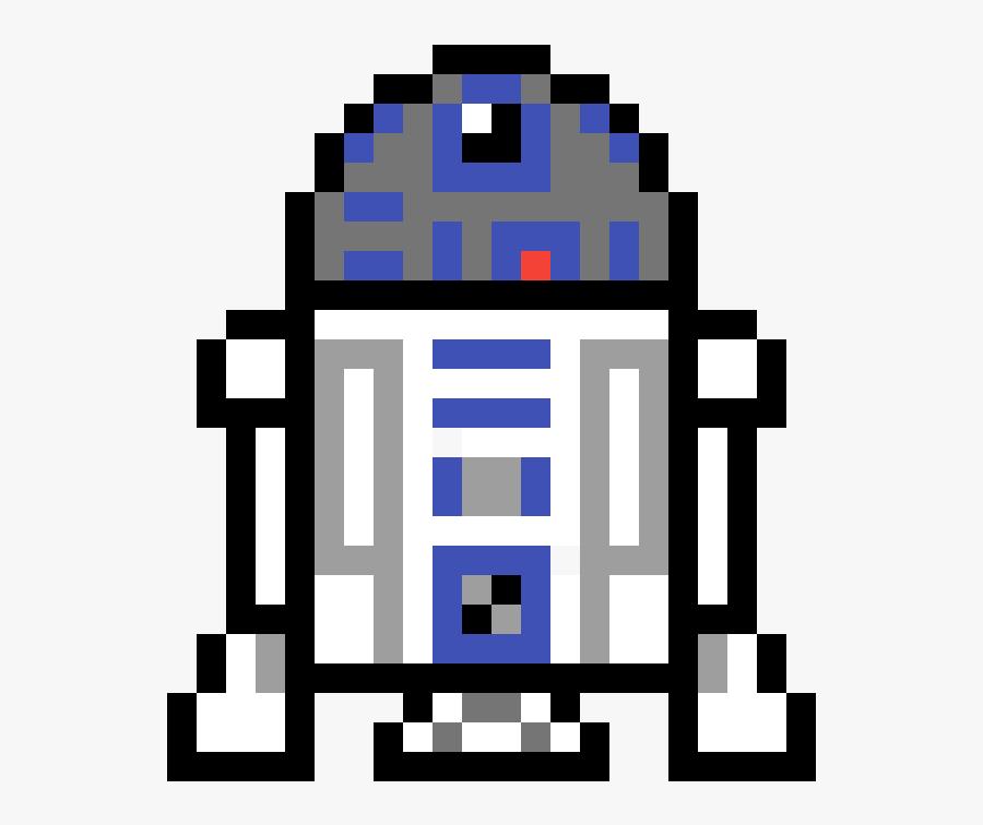 Pixel Art Star Wars R2d2 Clipart Png Download Pixel Art