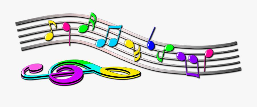 Note, Scores, Treble Clef, Melody, Music, Clip Art - Colorful Music Notes Symbols, Transparent Clipart