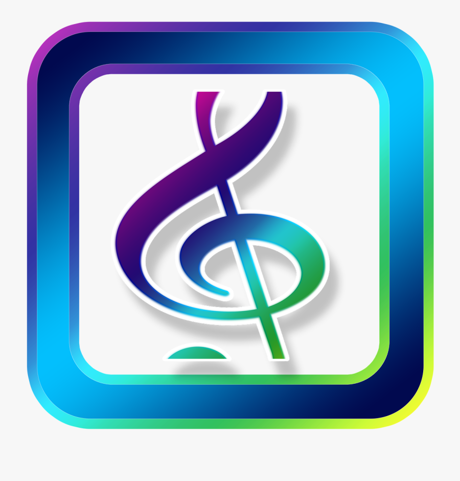 Icon, Music, Clef, Treble Clef, Symbols, Online - Treble Clef Music Symbol, Transparent Clipart