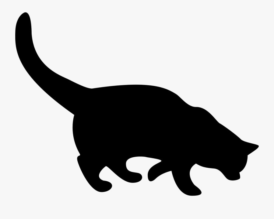 Black Cat Silhouette Comments - Black Cat Silhouette Eps, Transparent Clipart